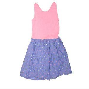 Gap Kids Sleeveless A-Line Dress Polka Dots Pink